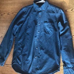 Navy blue American Eagle button-down shirt